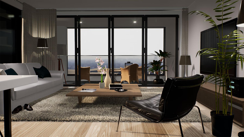 Render living room